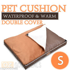 NEW Small Waterproof Pet Dog Mat Bed Thick Cushion Extra Top Cover 60x40cm S NL