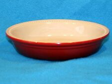 Retro style Le Creuset stoneware Baking Pie Dish Cherry Red 22cm diameter