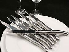 6 Steakmesser LAGUIOLE Inox Silber Besteck Messer Set Besteckset NEU