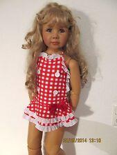Badeanzug mit Rock Badekleid Kleid Kinder 110 116  122 rot weiß Rüschen Hut Neu