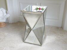 Venetian Mirror And Antique Silver Prism Side Table