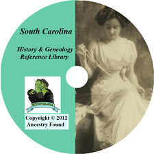 164 old books - SOUTH CAROLINA History & Genealogy on DVD