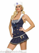 Leg Avenue Ladies Sexy Navy Sailor Uniform Hen Party Fancy Dress Costume Outfit