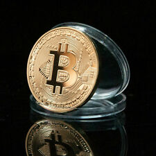 1 Pc Gold & Bronze Physical Bitcoins Casascius Commemorative Bit Coin