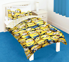 POLYCOTTON - DESPICABLE ME 2 MINIONS SINGLE DUVET QUILT COVER BOYS KIDS BEDROOM