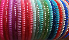 15x Unisex Plastic Springy Bracelets Band Rubber Spring Stretchy Wristbands