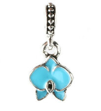 925 Silver Charm Beads Flowers Pendant Fit sterling Bracelet Necklace Chain BB68
