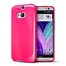 TPU Gel iskin Jelly Silicone Case Cover for HTC One M8 - Hot Pink