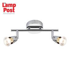 Saxby 43278 Amalfi 2 Light Twin Spotlight Bar Ceiling Mounted Polished Chrome
