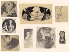 Max Mayrshofer, Rokoko, 8 Zeichnungen, Kreide / Bleistift, 1908