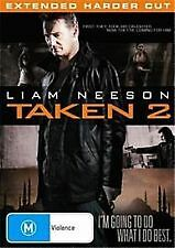TAKEN 2 - BRAND NEW & SEALED R4 DVD (LIAM NEESON) EXTENDED HARDER CUT