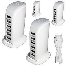 6-Port USB Adapter , Netzladegerät,30W USB Netzteil Tisch ladegerät, universal
