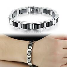 Hematite Magnetic Therapy Bracelet Energy Pain Relief Titanium Steel Men's Jewel