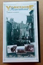 Rare VHS - 'YORKSHIRE REMEMBERED - at Work, War and Play' - PAL VHS video