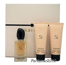 Giorgio Armani Si  50ml Eau de Parfum Spray+75ml Body Lotion+75ml Shower Gel