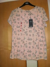 M & S Floral T-Shirt with Linen BNWT Size 18