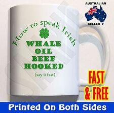 How to speak Irish Coffee Mug Cup Funny Novelty Gifts Rude