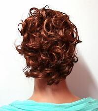 HAARGUMMI HAARTEIL IN KUPFER ROT Zopfgummi Dutt K01 Scrunchie Hair Piece red