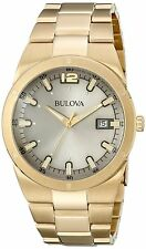 Bulova Men's 97B137 Gray Dial Gold Tone Stainless Steel Watch