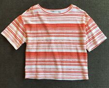 Country Road Womens Kimono sleeve Tee / Top Size M Red And White Stripes