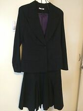 Target Black Pinstripe Skirt And Jacket Suit, Size 12