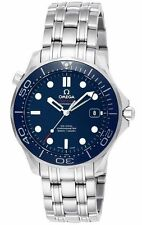 New Omega Seamaster Diver 300m Co-Axial Blue Automatic Watch 212.30.41.20.03.001
