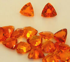 Golden Citrine Trillions , Faceted in 6x6 mm Size    1  piece