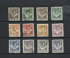1938 King George VI  SG25 - SG39 short set used NORTHERN RHODESIA
