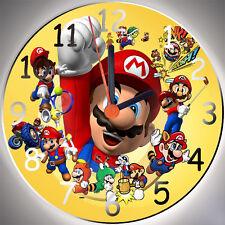 Wanduhr - Uhr für das Kinderzimmer - Motiv - Super Mario Bros. - Kinderuhr