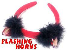 Hen Party: Head Band Flashing Devil Horns Red