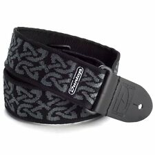 CELTIC DESIGN JIM DUNLOP ADJUSTABLE ELECTRIC,ACOUSTIC OR BASS GUITAR STRAP GREY