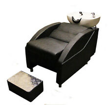 Salon/Hairdressing Barbers Back Wash Basin With Chair And Footrest 124456987