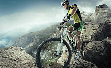 STUNNING MOUNTAIN BIKE CYCLING CANVAS #1 WALL HANGING A1 PICTURE ART HOME DECOR