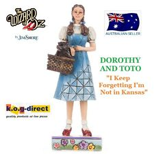 JIM SHORE THE WIZARD OF OZ DOROTHY & TOTO I KEEP FORGETING I'M NOT IN KANSAS NEW