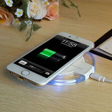 White Wireless Charging Dock Charger Pad+Receiver For Iphone 5 5s 5c 6 6s