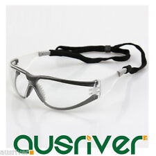 3M 11394 Windproof Goggles Anti-Fog Protective Glasses Safe Eyewear with Lanyard