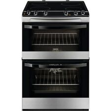 Zanussi ZCV66030XA 60cm Double Oven Electric Ceramic Cooker Stainless Steel