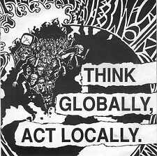 VARIOUS - Think Globally, Act Locally  / Gute 1993er  7'' Punk Double - Single !