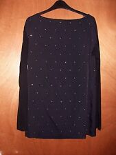 BNWT FCUK French Connection Black Diamonte Sparkle Arctic Spell Blouse Top
