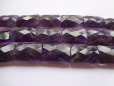 12x16mm Natural Amethyst Faceted Rectangle Gemstone Beads,  Half Strand, 12pcs