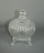 Clear Glass Vintage style Trinket Jewellery Jar with lift off lid
