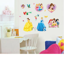 DISNEY PRINCESS CINDARELLA WALL STICKER DECAL CHILDREN/NURSERY/KIDS/GIRLS ROOM