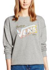 Ladies/Girls VANS Crew Sweatshirt Sweater - Grey S Small