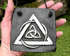 Celtic Knot TRIQUETRA Plaque Wall Hanging Handmade Tile Protection Sign Pagan