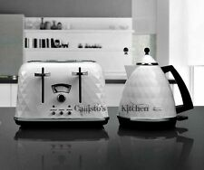 DeLonghi Brillante Kettle and Toaster Sets White Kettle & Four Slice Toaster New