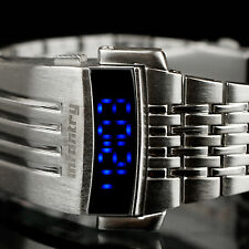 INFANTRY Mens LED Digital Wrist Watch Date Sport Fashion Luxury Stainless Steel