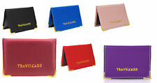 Oyster Travel Card Bus Pass Rail Card Holder Wallet Cover Case 6343