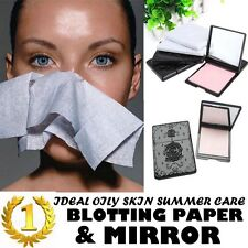 Face Blotting Paper Oil Skin Control Makeup Absorbing Facial Clean Mirror Case