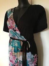 Size 24 Smart Flattering Autograph Black Floral Maxi Dress