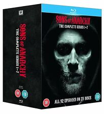 "SONS OF ANARCHY COMPLETE SERIES COLLECTION 1-7 BOX SET 23 DISCS BLU-RAY RB ""NEW"""